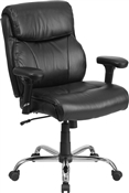 Flash Hercules Series 400lbs Capacity Big & Tall Black Leather Office Chair