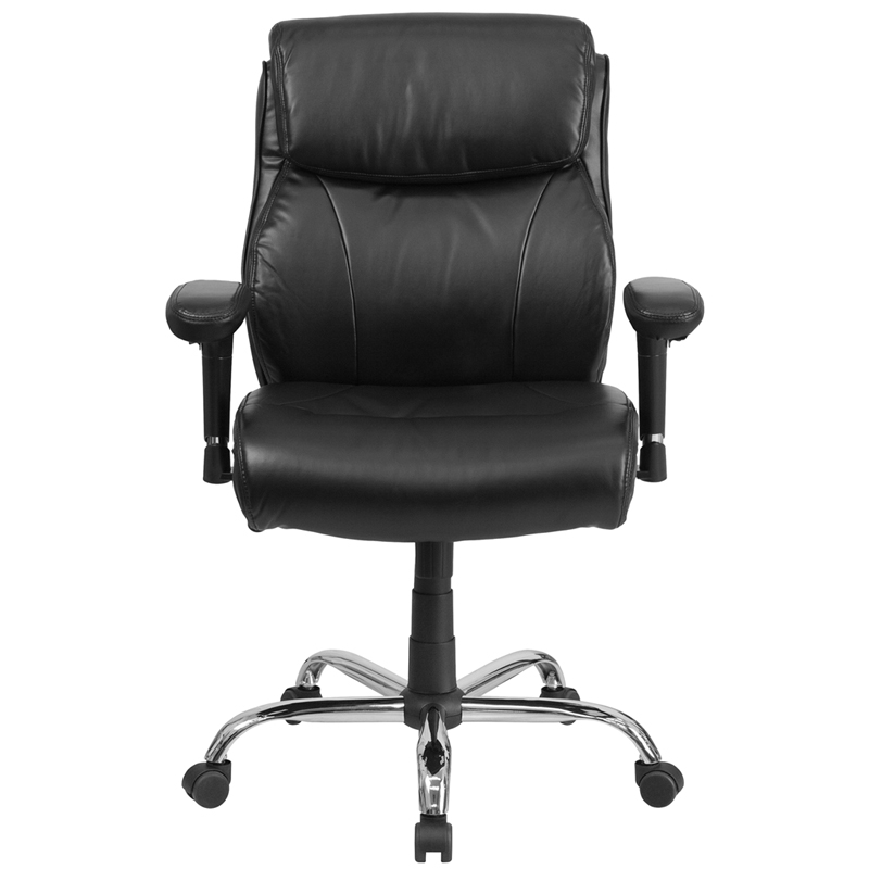 Flash Hercules Series 400lbs Capacity Tall Black Leather Office Chair