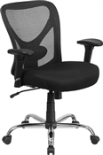 Hercules Series 400lbs Capacity Big & Tall Black  Mesh Office Chair by Flash Furniture GO-2032-GG