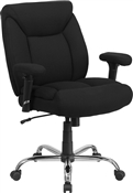 Flash HERCULES Series Big & Tall 400 lb. Rated Black Fabric Swivel Task Chair with Adjustable Arms-GO-2073F-GG