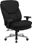 Flash HERCULES Series 24/7 Intensive Use Big & Tall 400 lb. Rated Black Fabric Executive Swivel Chair with Lumbar Knob - GO-2085-GG