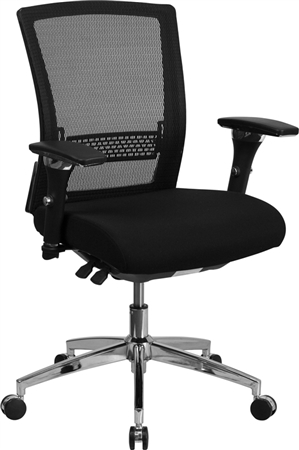 Flash HERCULES Series 24/7 Intensive Use 300 lb. Rated Black Mesh Multifunction Executive Swivel Chair with Seat Slider - GO-WY-85-8-GG