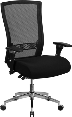 Flash HERCULES Series 24/7 Intensive Use 300 lb. Rated Black Mesh Multifunction Executive Swivel Chair with Seat Slider - GO-WY-85H-GG