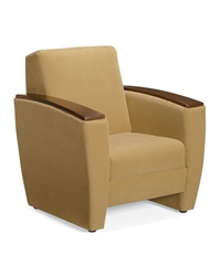 Chapter GC3741 Contemporary Lounge Chair with Moulded Plywood Armcaps by Global