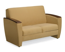 Chapter GC3742 Contemporary Two-Seat Sofa with Moulded Plywood Armcaps by Global
