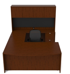 Cherryman Jade Executive U Desk with Bowfront