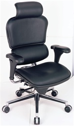 Eurotech Leather Ergonomic Chair w/ Headrest