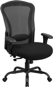 HERCULES Series 24/7 Intensive Use, Multi-Shift, Big & Tall 400 lb. Capacity Black Mesh Multi-Functional Swivel Chair with Synchro-Tilt