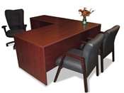 Maverick Executive L Desk with Return
