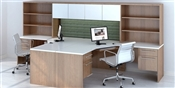 Maverick Series MM16 Computer Corner Desk with Hutch