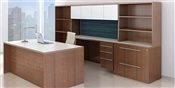 Maverick Series MM5 Desk Credenza Set with Hutch