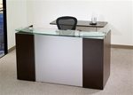 Napa Reception Desk with Glass Transaction Counter