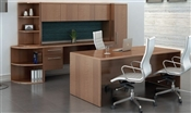 "Tahoe TH15 Executive ""U"" Desk with Hutch"