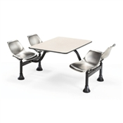 OFM Cluster Table and Stainless Steel Chairs