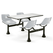 OFM Cluster Table with Stainless Steel Top and Chairs