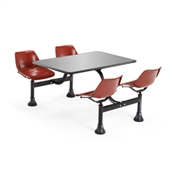 OFM Cluster Table with Stainless Steel Top