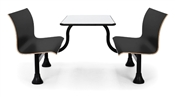 OFM Retro Bench with Stainless Steel 30 x 48 Table Top and Middle Frame