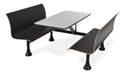 OFM Retro Bench with Stainless Steel 30 x 48 Table Top and Wall Frame
