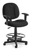 OFM Superchair with Arms and Drafting Kit 105-AA-DK Computer/Task Chair