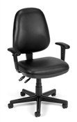 OFM Vinyl Posture Task Chair with Arms