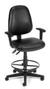 OFM Vinyl Posture Task Chair with Arms and Drafting Kit