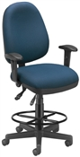 "OFM ""One Seat Fits All"" Executive Task Chair with Drafting Kit"