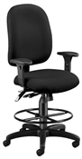 OFM Ergonomic Executive/Computer Task Chair with Drafting Kit