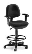 OFM Lite Use Computer Task Chair with Arms and Drafting Kit