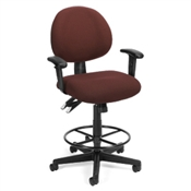 OFM 24 Hour Computer Task Chair with Arms and Drafting Kit