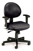 OFM 24 Hour Anti-Microbial Vinyl Computer Task Chair with Arms