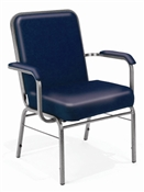 OFM Big and Tall Anti-Microbial Vinyl Stack Chair with Arms