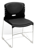 OFM High Capacity Vinyl Seat & Back Stack Chair
