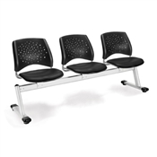 OFM Stars 3-Beam Seating with 3 Vinyl Seats