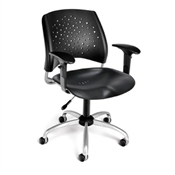 OFM Stars Swivel Plastic Chair with Arms
