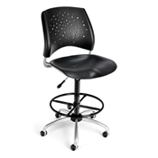 OFM Stars Swivel Plastic Chair with Drafting Kit
