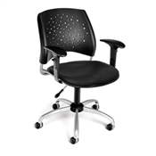 OFM Stars Swivel Vinyl Chair with Arms