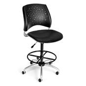 OFM Stars Swivel Vinyl Chair with Drafting Kit
