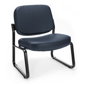 OFM Big & Tall Vinyl Armless Guest/Reception Chair