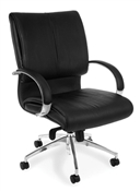 OFM Sharp Executive Leather Mid-Back Chair