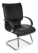 OFM Sharp Leather Guest Chair