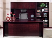 Kenwood Series Mahogany Wood Desk by Office Star