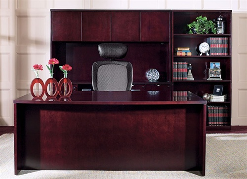 Warm Cherry Executive Desk Home Office Collection: Kenwood Executive Office Furniture And Computer Desk In
