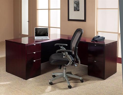 Kenwood Series Mahogany Wood Desk By Office Star