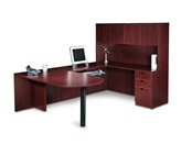OTG Executive U Desk with Storage Hutch