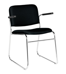 Stack and Guest Chair with Arms by Offices To Go