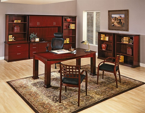 Mendocino Mahogany Wood Desk Collection By Office Star