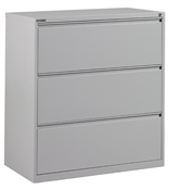 "Office Star 42"" Wide 3 Drawer Lateral File"