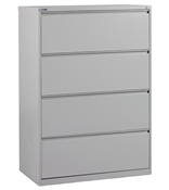 "Office Star 36"" Wide 4 Drawer Lateral File"