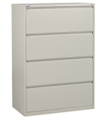 "Office Star 42"" Wide 4 Drawer Lateral File"