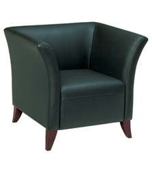 Black Faux Leather Club Chair
